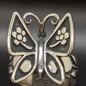 Rare James Avery Sterling Mariposa Butterfly Ring